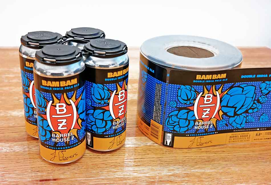 Flexible-Pak-Breweries-Barrel House Z_Bam-Bam-Ale-Labels-Collage